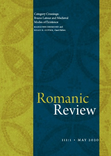 Cover: Romanic Review 111:1