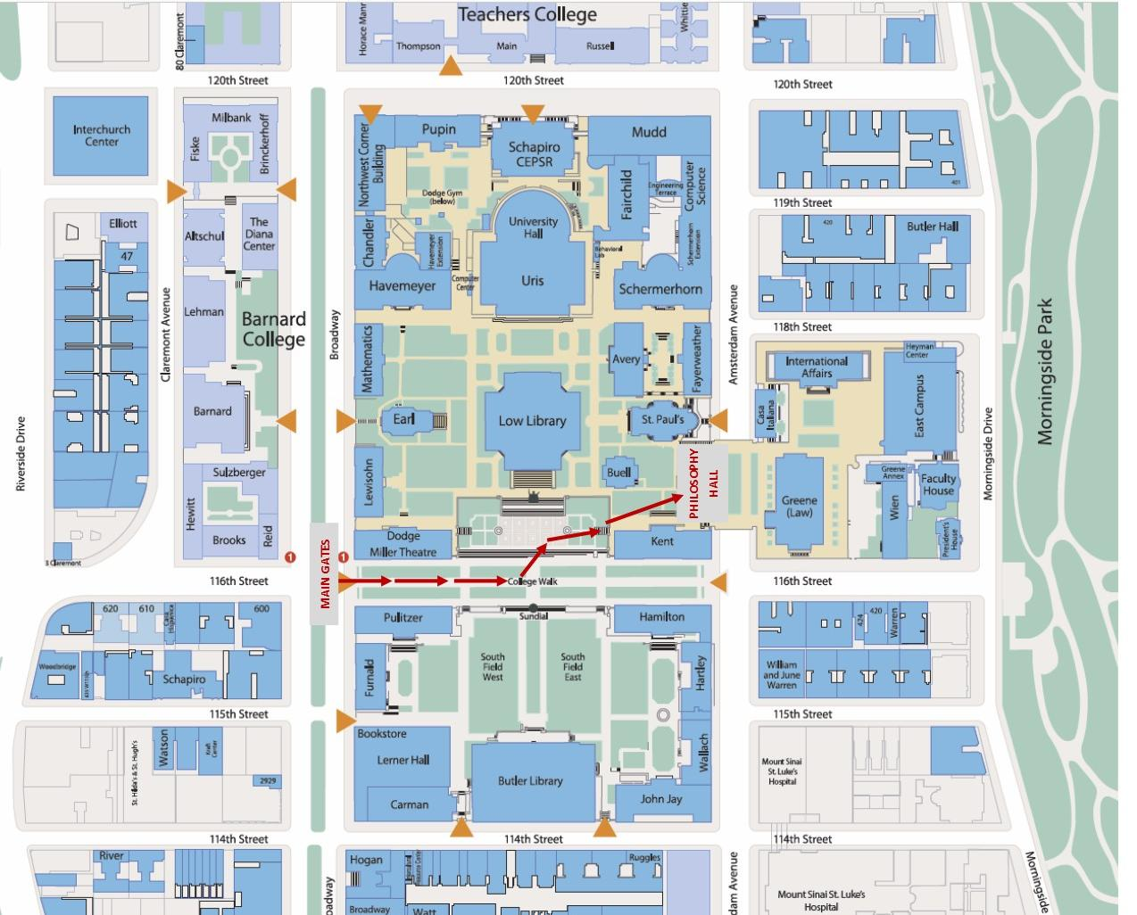 campus map to philosophy hall